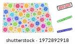 vector virulent collage north...   Shutterstock .eps vector #1972892918