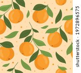 seamless pattern with orange... | Shutterstock .eps vector #1972896575