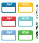 "vector ""hello my name is...""... 
