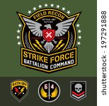 military eagle graphic set | Shutterstock .eps vector #197291888