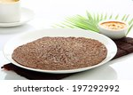 Small photo of South Indian meal ragi dosa with chutney.