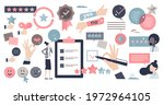 feedback elements and customer...   Shutterstock .eps vector #1972964105