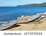 Old Fishing Boats On The Shore...