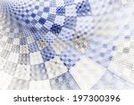 checkered grey   navy curved... | Shutterstock . vector #197300396