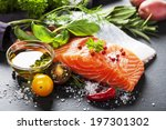 delicious  portion of fresh... | Shutterstock . vector #197301302