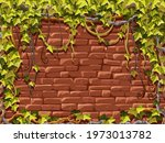 wall red brick and branches... | Shutterstock .eps vector #1973013782