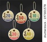 vintage style sale tags design... | Shutterstock . vector #197301578