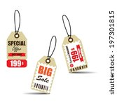 vintage style sale tags design  ... | Shutterstock . vector #197301815