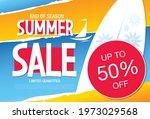 summer sale banner layout... | Shutterstock .eps vector #1973029568