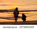 Impressionistic View Of Two...