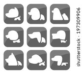 dog icon botton | Shutterstock .eps vector #197309906