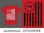1776 american flag t shirt... | Shutterstock .eps vector #1973109398