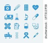 medical icons set. vector eps10 ... | Shutterstock .eps vector #197311958