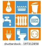 utilities icons set | Shutterstock .eps vector #197312858