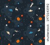 space seamless pattern... | Shutterstock .eps vector #1973143592