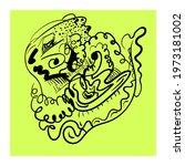 abstract unusual vector artwork ... | Shutterstock .eps vector #1973181002