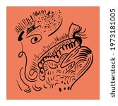 abstract unusual vector artwork ... | Shutterstock .eps vector #1973181005