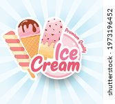 tasty colorful ice cream label. ... | Shutterstock .eps vector #1973196452