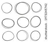 set hand drawn ovals  felt tip... | Shutterstock .eps vector #1973245742
