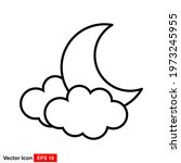 moon icon vector for your web...