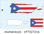 vector background of puerto... | Shutterstock .eps vector #197327216