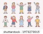 cute stylish children character ...   Shutterstock .eps vector #1973273015