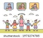 daycare class. teacher and... | Shutterstock .eps vector #1973274785