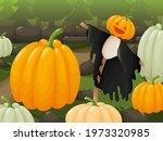 Cute Scarecrow At The Pumpkin...