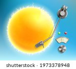 music vinyl disc like a sun in...   Shutterstock .eps vector #1973378948