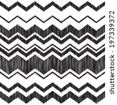 Seamless zig zag embroidery pattern - white background. - stock vector