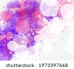 multicolored watercolor...   Shutterstock .eps vector #1973397668