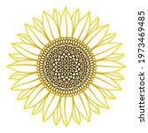 Sunflower Mandala. Vector Paper ...