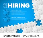 we are hiring minimalistic blue ...   Shutterstock .eps vector #1973480375