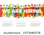 we are hiring minimalistic... | Shutterstock .eps vector #1973480378