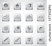 Bakery icons set  - stock vector