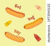 national hot dog day vector... | Shutterstock .eps vector #1973543132