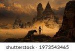 Fantasy Art Landscape With...