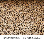 Stacked loggs of fire wood...