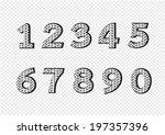numbers set. illustration | Shutterstock .eps vector #197357396