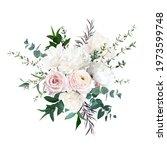 delicate white peony  cream... | Shutterstock .eps vector #1973599748
