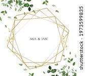 herbal minimalist vector frame. ... | Shutterstock .eps vector #1973599835