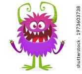 happy cartoon monster....   Shutterstock .eps vector #1973603738