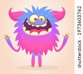 happy cartoon monster....   Shutterstock .eps vector #1973603762
