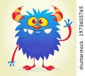 happy cartoon monster....   Shutterstock .eps vector #1973603765