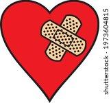 broken heart and adhesive...   Shutterstock .eps vector #1973604815