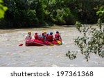 Water Rafting On The Rapids Of...