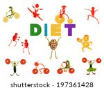 healthy eating. little funny...   Shutterstock . vector #197361428