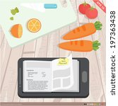 flat design   mobile... | Shutterstock .eps vector #197363438