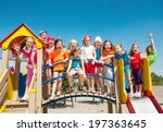 funny children outdoors | Shutterstock . vector #197363645