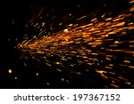 Glowing Flow Of Sparks In The...